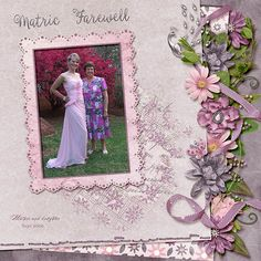Matric Farewell Created this layout with the fabulous brand new kit Soft Melody from Dana's Footprint Digital Design. This kit has beautiful papers, elements and graffiti  to suit many different photos. I love the soft colours. http://www.godigitalscrapbooking.com/shop/index.php?main_page=product_dnld_info&cPath=29_210&products_id=27932