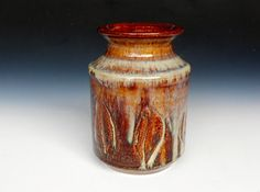 Red Honey Glazed Vase Small Pottery by Darshan Pottery for her kitchen