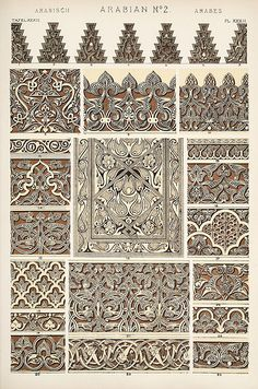 """Image Plate from Owen Jones' 1853 classic, """"The Grammar of Ornament"""".   Flickr - Photo Sharing!"""