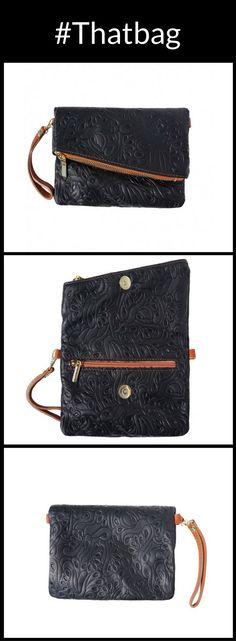 Soft lace pattern clutch, Italian leather handbags