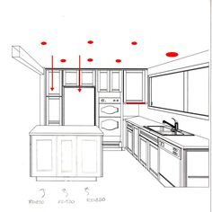 Island Kitchen Floor Plans For U And L Shaped Kitchen Home Decor