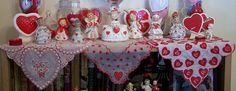 Vintage Valentine Girls and Angels