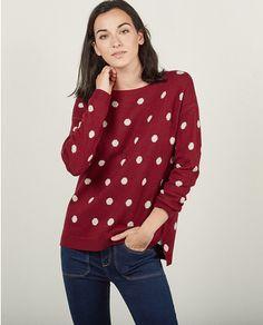 Jersey de mujer Sfera con topos en rojo