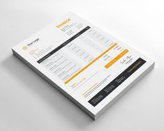 This Invoice template will help you in your business to save time, organize your product data and customers info. Invoice Design Template, Quote Template, Letterhead Template, Brochure Template, Design Templates, Stationary Branding, Stationary Design, Corporate Branding, Standee Design