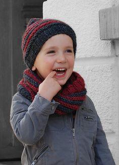 Blog laine tricot crochet | Planète Laine: Modèle gratuit snood et bonnet enfant