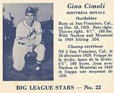 1950 Big League Stars (V362) #22 Gino Cimoli Front