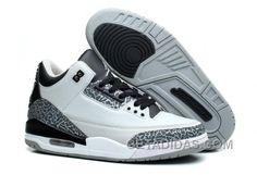 innovative design cdc5e 48d4c Mens Air Jordan 3 Wolf Grey Metallic Silver-Black-White For Sale Christmas  Deals SxGWP, Price   88.00 - Adidas Shoes,Adidas Nmd,Superstar,Originals