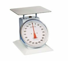 "Detecto T100 - Top Loading Dial Receiving Scale w/ Enamel Housing, 100-lb x 4-oz by Detecto. $194.40. Detecto T100 Top Loading Dial Receiving Scale w/ Enamel Housing, 100-lb x 4-oz. Scale, Receiving, Dial Type, Top Loading, counter model, 10-1/2"" fixed dial, sloped face, 100 lb x 4 oz. capacity, enamel housing, 11-1/2"" sq. chrome-plated platform"