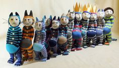 Group photo of my sock Max collection - 'The 12 Faces of Max' https://www.facebook.com/pages/Sock-tacular-Sock-Creations-Hebden-Bridge/141398735907103