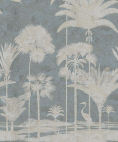 Wallpaper-Shadow-Palms-Blue-1 Palm Tree Wallpaper Mural, Bird Wallpaper, Australia Wallpaper, Paradise Wallpaper, High Quality Wallpapers, Mold And Mildew, One Light, All The Colors, Linz