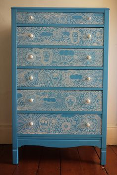Bespoke Vintage Up-Cycled Chest of Drawers