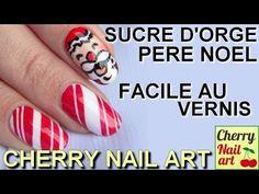 FACILE nail art noel au vernis - YouTube Nail Art Vidéo, Nail Art Noel, Cherry Nail Art, Christmas, Beauty, Easy Nail Art, Christmas Art, Real Simple, Beauty Products