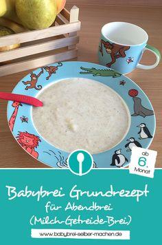 Grundrezept für Abendbrei (Mich-Getreide-Brei): Kombiniere die Zutaten, die dein Baby gerne mag für einen leckeren Babybrei.