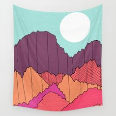 Mountain Cliffs  Wall Tapestry