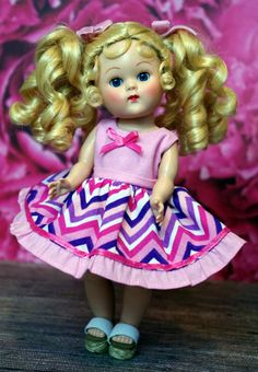 "PReTTy iN PiNK CHeVRoN a 2 Piece Outfit for 7.5"" Vogue Ginny Dolls by KarmelApples #ETSY"
