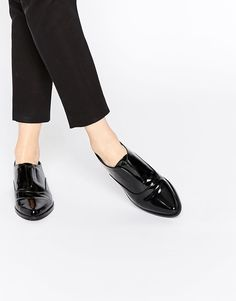 Juodi bateliai | ASOS MATCH POINT | Pointed Flat Shoes - Black - ASOS.com | ShopSpy.lt