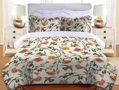 Vintage Hummingbird Duvet Cover and Shams – Laural Home