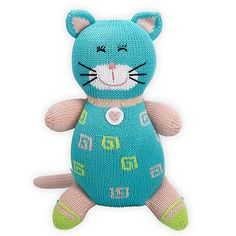 Joobles Organic Stuffed Animal - Kitty Katz Part of our award-winning Joobles collection of organic stuffed animals, Icy is made of soft organic yarns and Oeko-tex certified safe dyes. So soft and squishy, you won't be able to let go! Hand-knit with love at small Peruvian cooperatives. Children of cooperative workers are helped by the Fair Indigo Foundation, which provides educational programs and supplies.  www.hatchecolifestyle.com