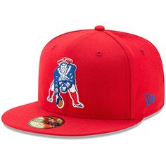 231043cec95193 New England Patriots New Era Classic Logo Omaha 59FIFTY Fitted Hat - Red # NewEnglandPatriots