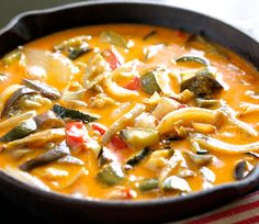 The Easiest - 20 Minute Roasted Veggie Thai Curry - Healthy never tasted so good!