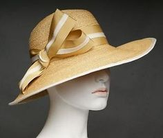 ANDRÉ ™ - Ladies Fine Natural Lontra Straw - Sideswept Large Brim Hat