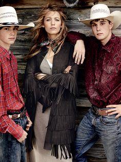 Michael Kors Fringe Jacket | Blake Lively Vogue August 2014