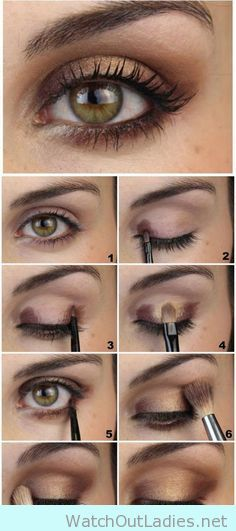 How to pop up green eye with bronze eyeshadow tutorial