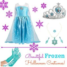 Frozen Halloween Costumes – Elsa and Anna Dresses & Accessories -
