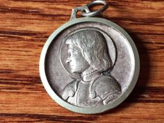 """Vintage Saint Joan of Arc & Saint Christopher Religious Medal Silver Pendant Jewelry on 18"""" sterling silver rolo chain by CherishedSaints on Etsy https://www.etsy.com/listing/267512023/vintage-saint-joan-of-arc-saint"""