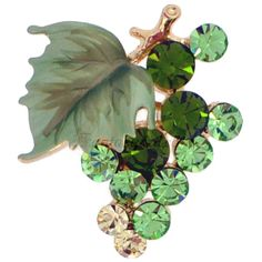 Kinda old lady...but you'd rock it sunshine! ;) Peridot Bunch of Grapes Pin Brooch