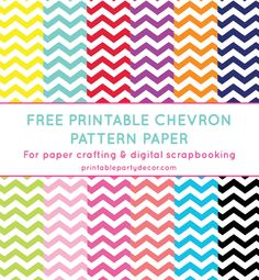 Free printable chevron pattern paper from printablepartydecor.com