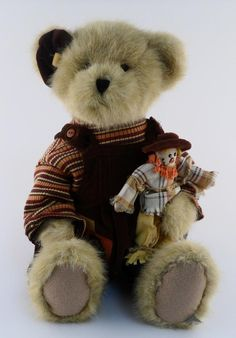 Boyds Bears Charlotte Q. Autumntyme And Lil' Scardy Mohair Teddy Bear