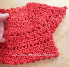 Das Mãos da Teresinha: Vestidos de croché e tecido - tamanhos: 7-8 anos e 2-3 anos