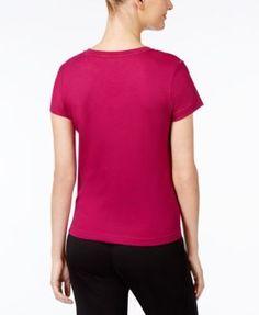 Jockey Sleepwear Short Sleeve Tee - Pink XL