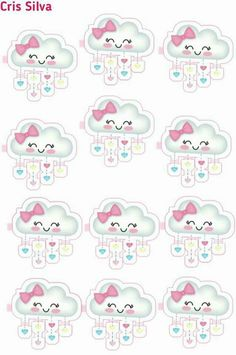 Lorena Carrera's media content and analytics Cloud Party, Baby Shawer, Free To Use Images, Star Baby Showers, Sleepover Party, Baby Birthday, Happy Planner, Christening, Clip Art