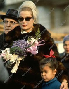 Princess Grace and little Princess Stephanie