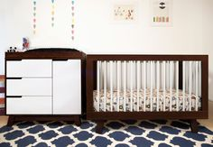 Babyletto Hudson 3-in-1 Convertible Crib in Espresso with White  Babyletto Hudson Changer Dresser in Espresso with White  http://www.babyletto.com/hudson/