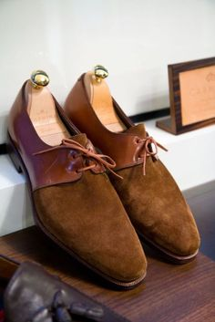 thearmoury: Carmina x The Armoury - our take on the saddle shoe in tobacco suede and cordovan