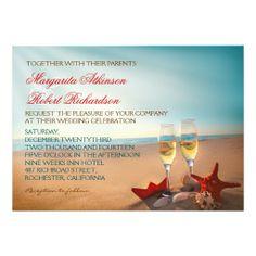 Sunset Beach Romantic Wedding Invitations