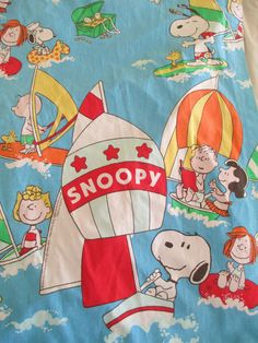 Vintage 1968 Peanuts Snoopy Curtains  82 Long by AStringorTwo, $28.00