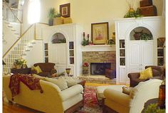 traditional living room by Showhomes