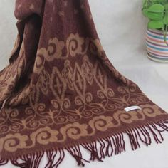 New Winter Women's Man's Jacquard Cashmere Wool Soft Warm Wrap Shawl Scarf 132