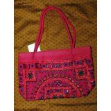 Womens Handbag Deep Red Banjara Mirrors Boho Purse Totes (Apparel)  #MileyCyrus #melaniexeinalem
