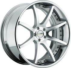 GFG Supremo F-2 Wheels: Machined Silver With Chrome Lip brushed prices 20x8.5 starting at only $595.00 22x10.5 starting at only $745.00