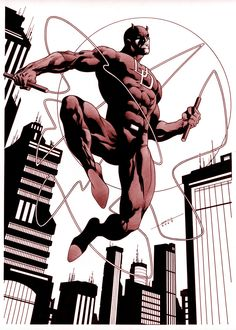 Daredevil by marcelomueller Marvel Characters, Marvel Heroes, Marvel Dc, Daredevil Elektra, Daredevil Artwork, Batman Artwork, Comic Books Art, Comic Art, Daredevil Man Without Fear