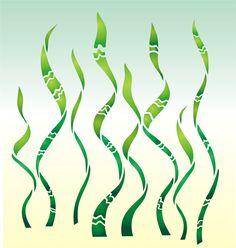 Seaweed Enchanted Sea Stencil Design from Stencil Kingdom