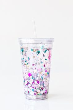 DIY Floating Glitter Tumbler | Studio DIY®