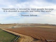 Thomas Edison quote on opportunity & hard work #quotes