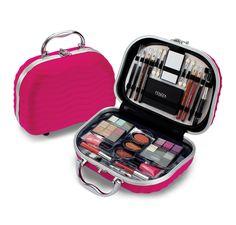 Pequena maleta de maquiagem