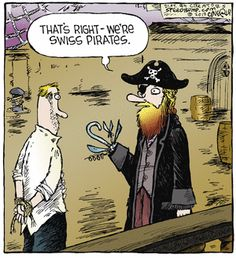 """Swiss Pirates...     - """"Speed Bump"""" by Dave Coverly;  12/05/12"""